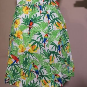 American Apparel tropical skirt  size M